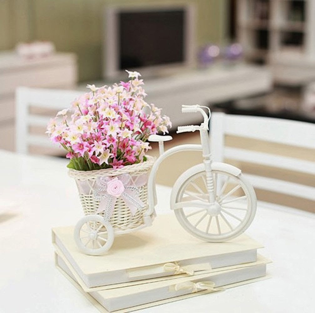 bicycle flower home decoration