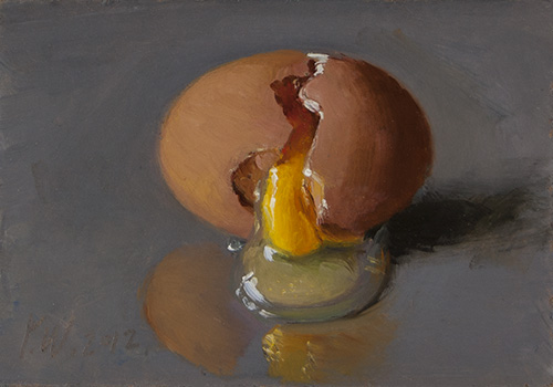 wang fine art a cracked egg a painting a day small