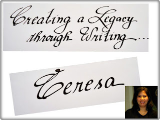 Simplymarrimye's Creating A Legacy Through Writing / Tere's handwriting