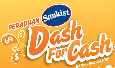 Peraduan Sunkist 'Dash for Cash'