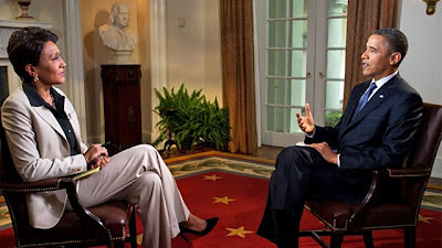 Robin Roberts interviews Barrack Obama at the White House