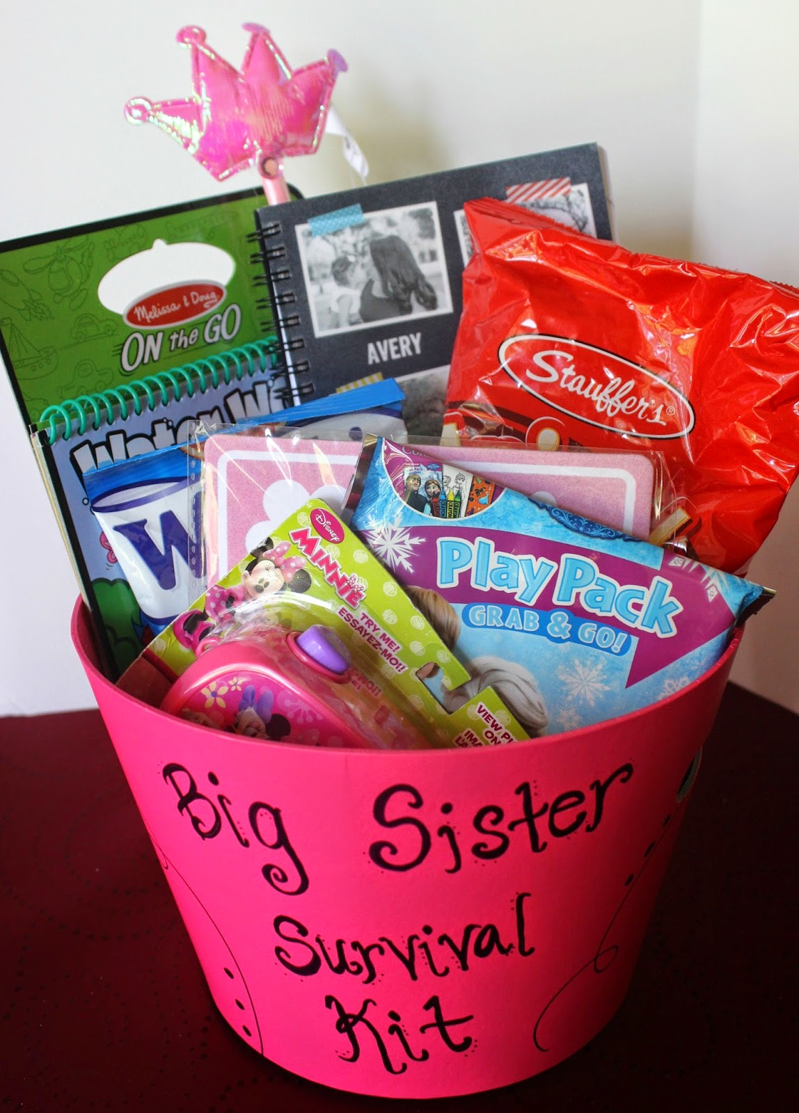 Baby Gift Ideas For Your Sister : Simply made with love big sister survival kit
