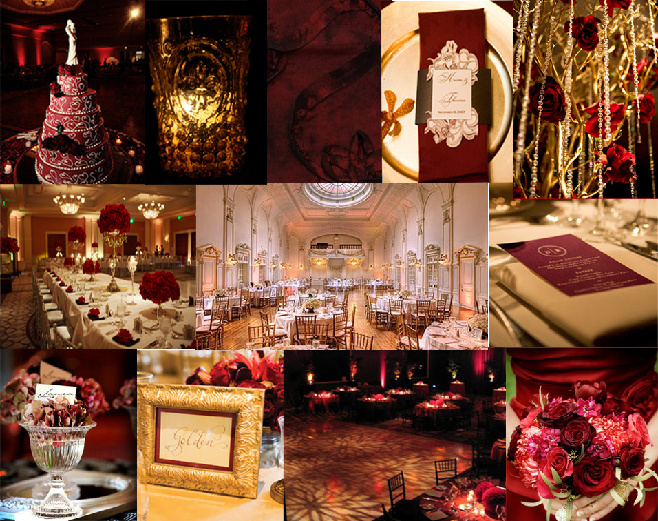 украса за сватба в червено