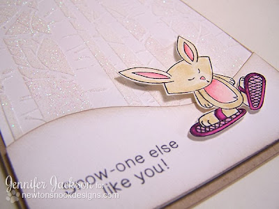 Bunny wearing Snowshoes Winter card from Newton's Nook Designs