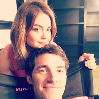 PLL BTS 6x16 Lucy Hale and Ian Harding (Lucian)