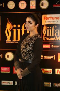 Actress Charmi Kaur Latest Stills in Black Designer Dress at IIFA Utsavam Awards 2016  252811.jpg