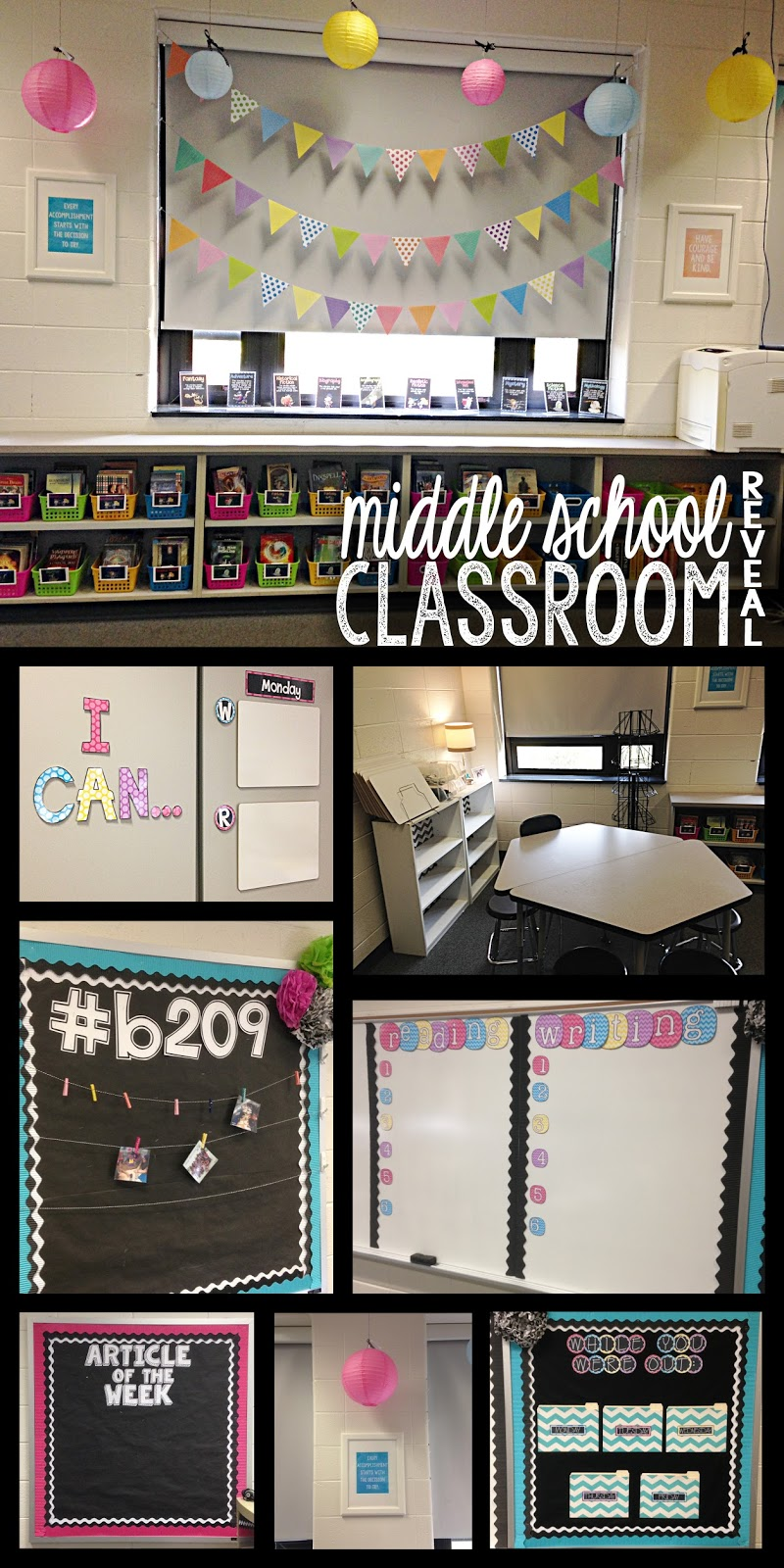 Classroom Decor Math ~ Musings from the middle school classroom reveal