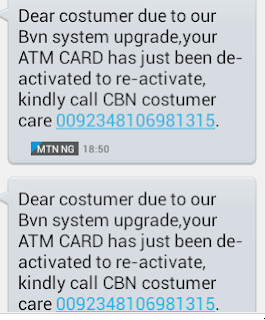 BVN Scam Message