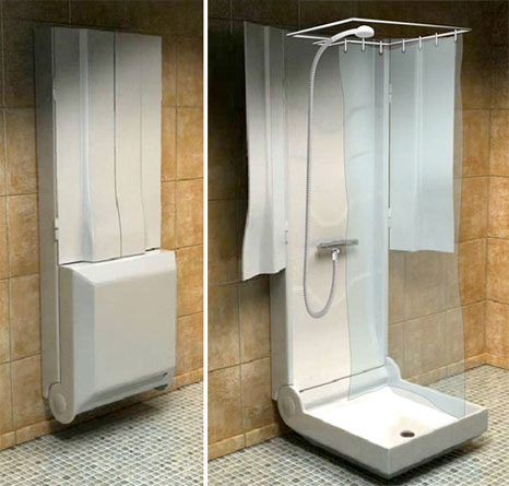 Trend homes small bathroom shower design for Tiny bathroom shower ideas