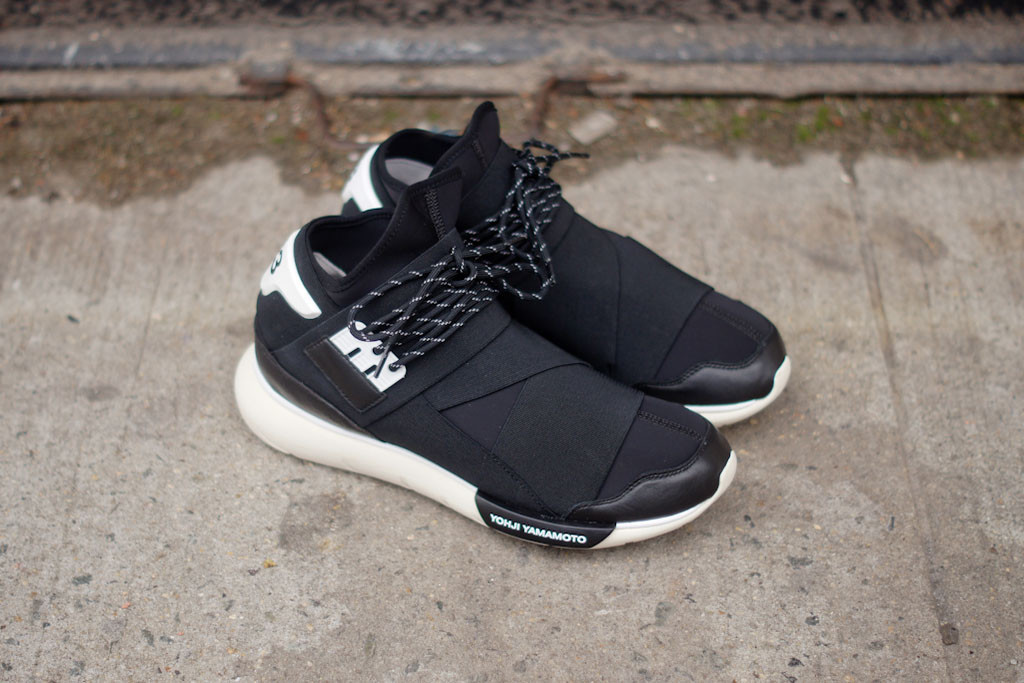 The adidas Y-3 Qasa High released this week in a new Black White colorway 9a57532b1