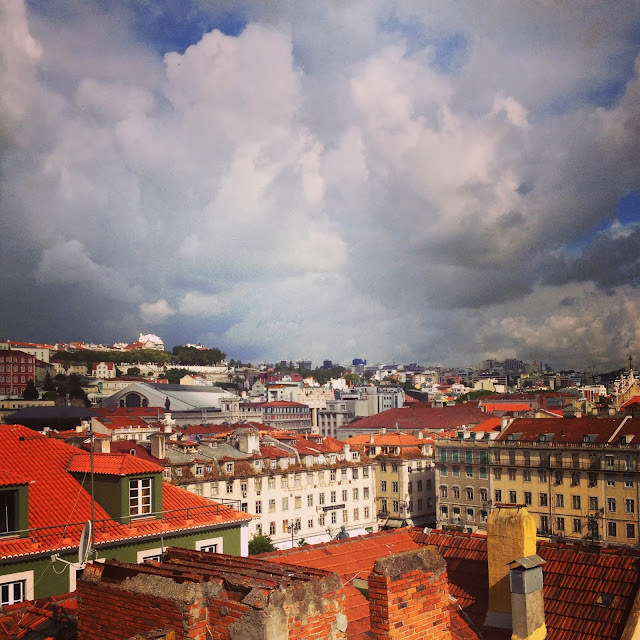 Rooftop view of Lisbon on Instagram on Semi-Charmed Kind of Life