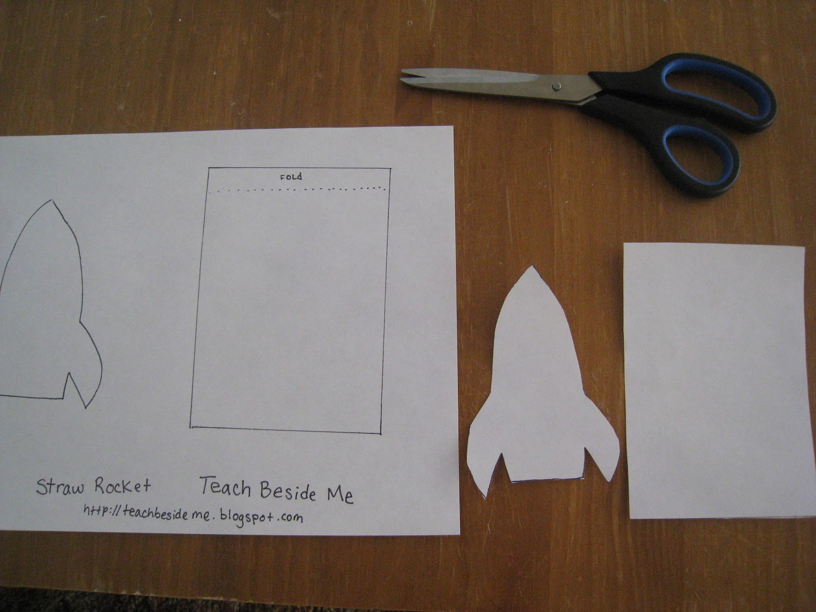 Straw Rocket with Printable Template - Teach Beside Me