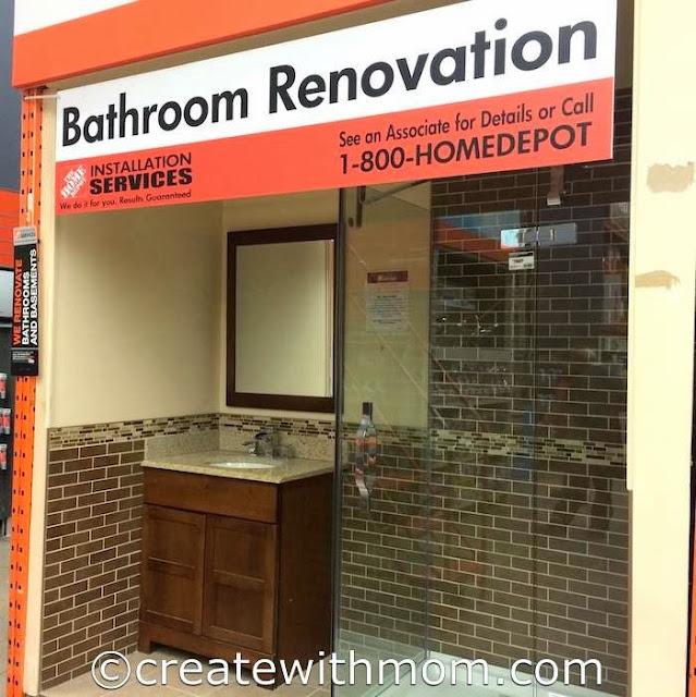 home depot bathroom renovation