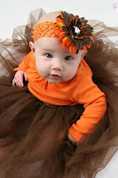Cute Baby Orange Frock Flower Cap Kids Images