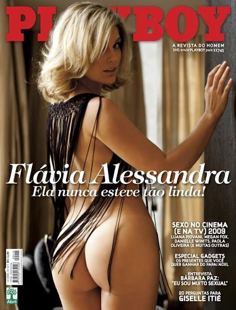 Confira as fotos da deliciosa Flávia Alessandra, capa da Playboy de dezembro de 2009!