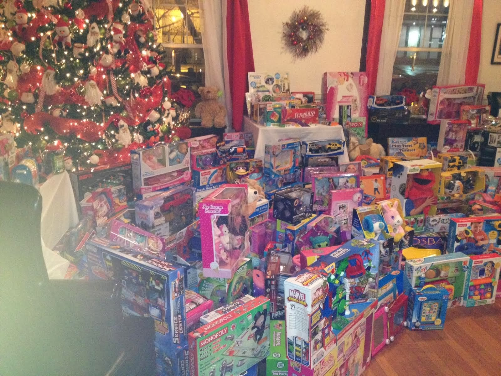 Lots of Toys Donated at Bernier Carr Christmas Party