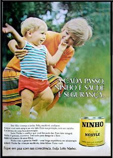 propaganda leite Ninho - Nestle - 1971; Nestle anos 70; 1971; os anos 70; propaganda na década de 70; Brazil in the 70s, história anos 70; Oswaldo Hernandez;