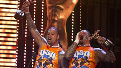 2015 Slammys The Usos Jimmy Uso Jay Uso New Day Xavier Woods Kofi Kingston Big E