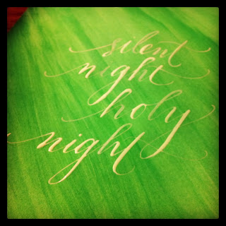 holiday calligraphy