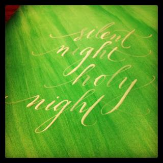 holiday calligraphy