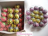 Apam Inti (Corak dot²; lebah; ladybird; strawberi)