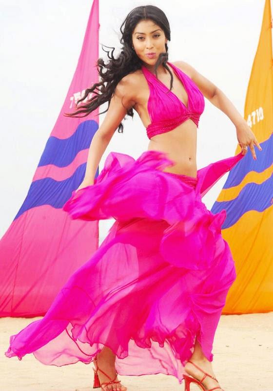 sriya saran cleavage in pink dress