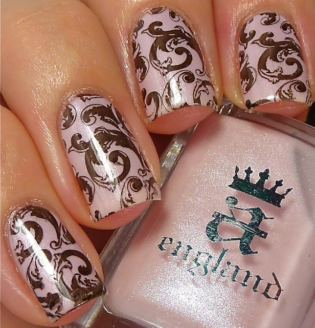 a-england, Iseult, Camelot, Lealac xl-B, stamping, swatch