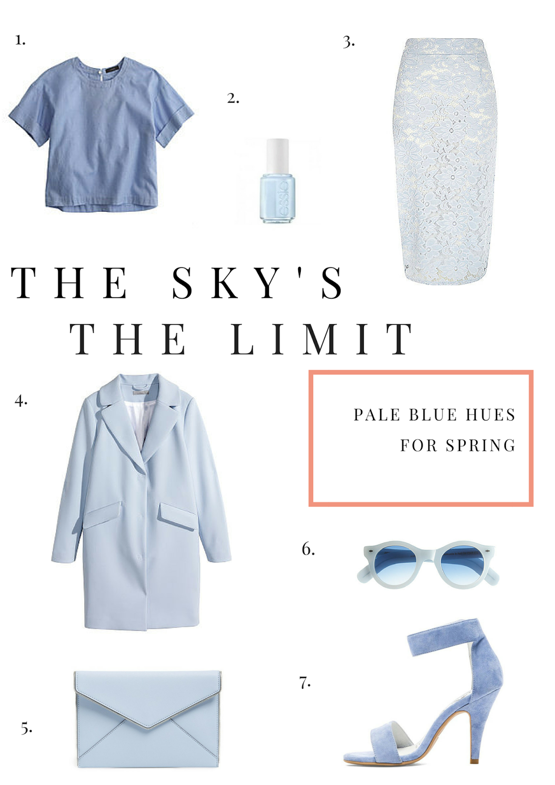 Pale Blue, Fashion, Style, Spring, Blue