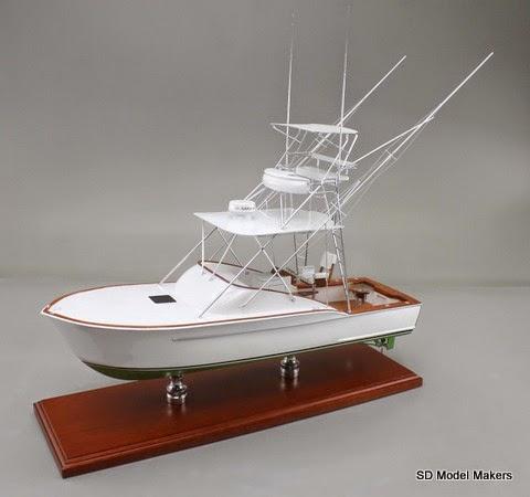 Fish on 24 desktop replica model of 31 custom sport for Model fishing boats