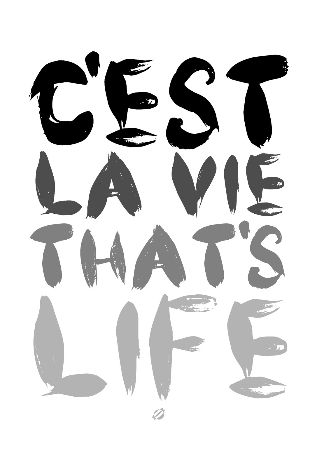 LostBumblebee 2013 C'est la VIE! FREE PRINTABLE