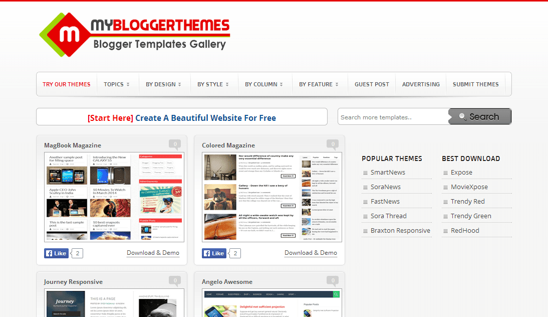 My Blogger Themes