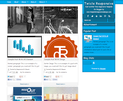 Twicle Responsive Blogger Template