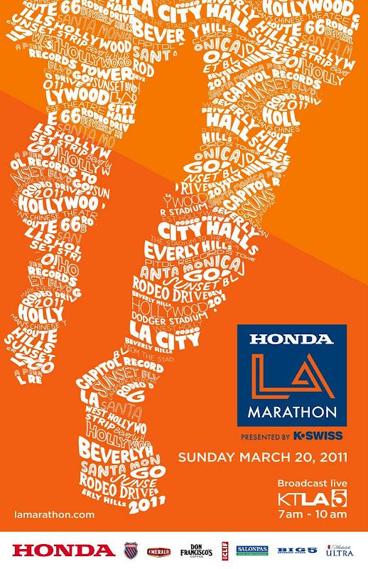 LA Marathon 2011 poster