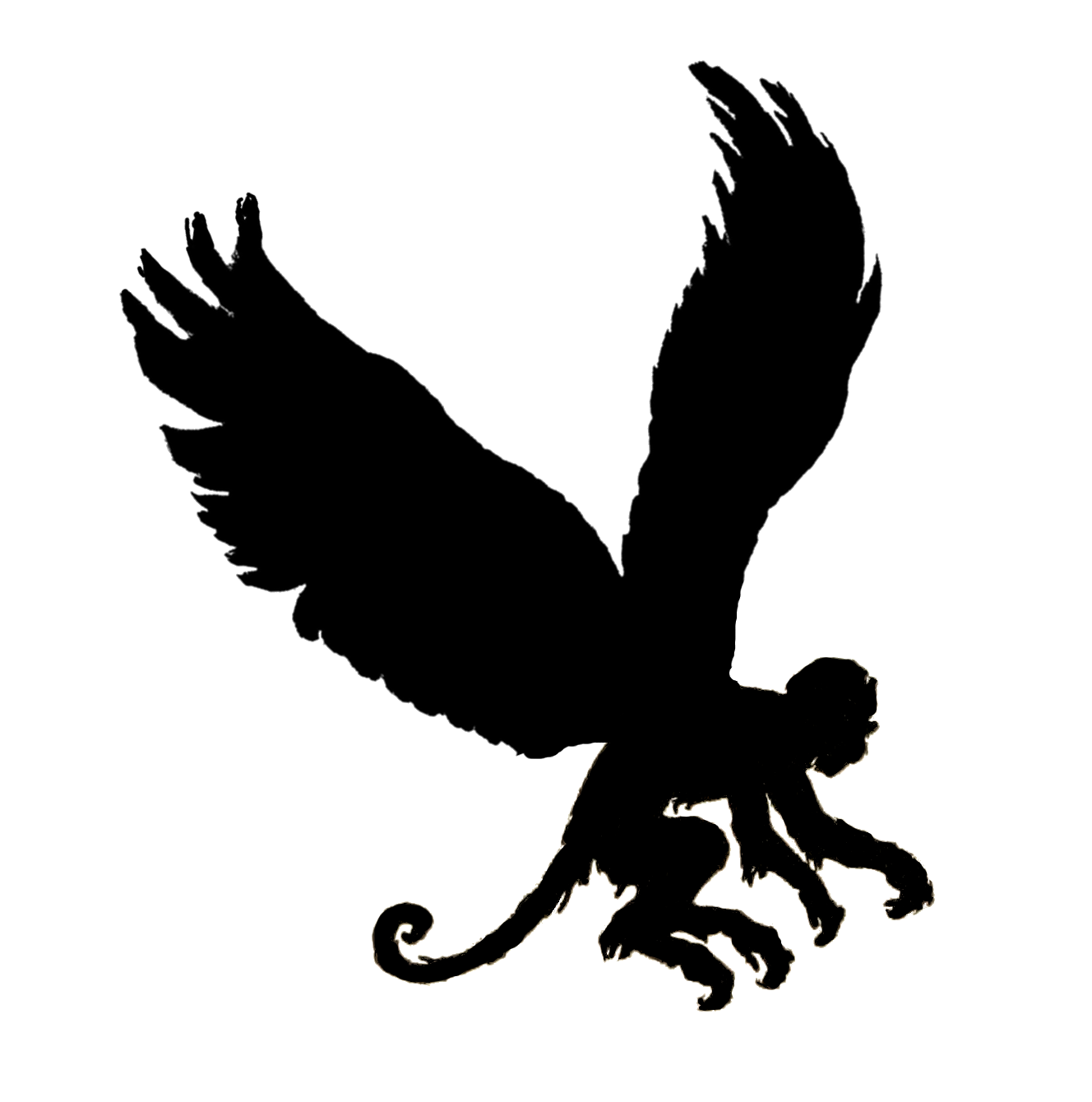 Flying Monkey Silhouette Images & Pictures - Findpik
