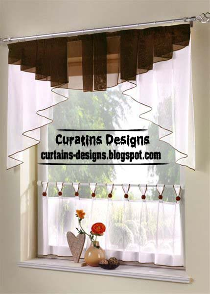 Best 20 valance designs and small curtains for windows 1 - Cortinas para cocina ...