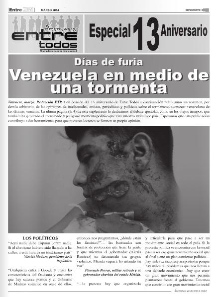 Días de furia.  Venezuela en medio de una tormenta