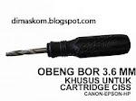 Obeng 3.6mm.untuk melubangi katrid