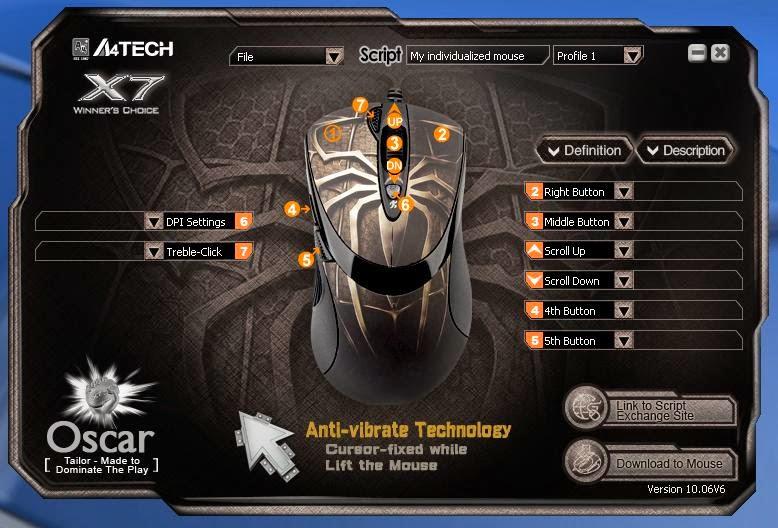 Script mouse macro X7 A4TECH