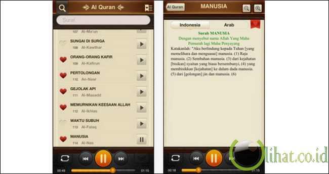 Al Quran 114 Surah Audio dan Teks (Bahasa Indonesia)