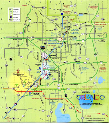 Tourist map of Orlando