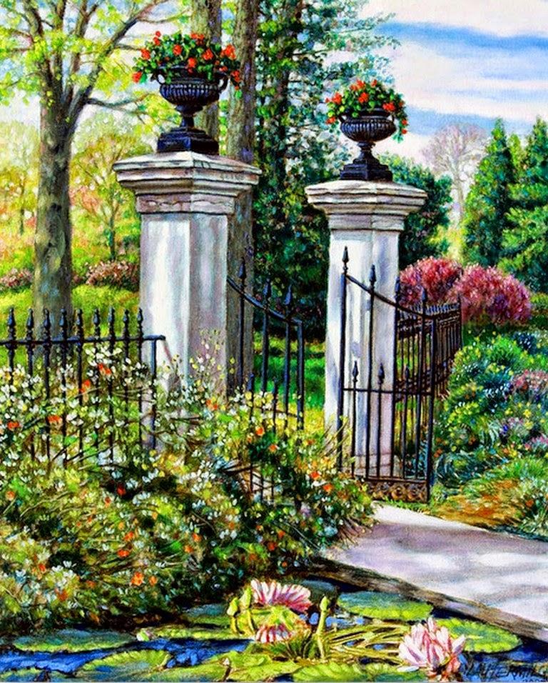 Pintura moderna y fotograf a art stica cuadros con - Oleos de jardines ...