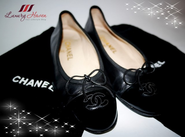 luxury haven designer labels chanel lambskin ballerina flats