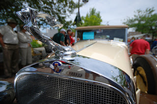 Close up classic car