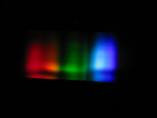 rhodolite gem spectrum as seen through a spectrometer