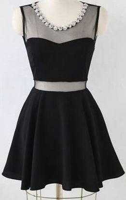 Glamorous Short Little Black Dress