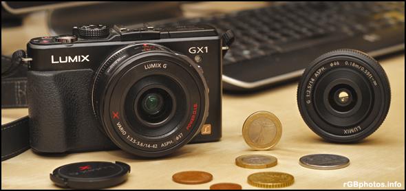 Fotografia della Panasonic GX1 e del grandangolo 14mm f/2.5