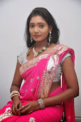 Actress Nisha Latest Photos in Pink saree-thumbnail-20