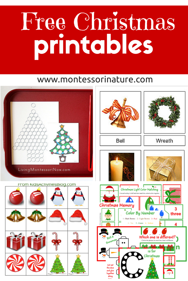 Free Christmas Printables - Learning Resources for Preschool Kids ...
