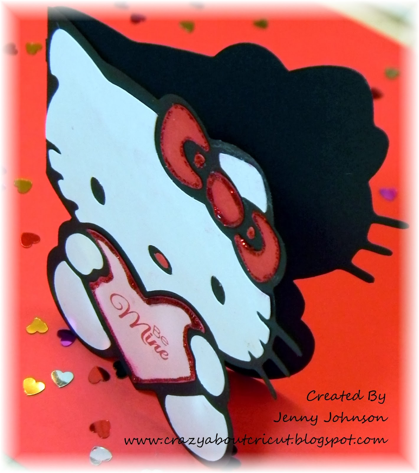 Crazy about cricut hello kitty blog hop i love that the hello kitty greetings cricut cartridge has a card feature makes these cards so fun and easy to put together m4hsunfo