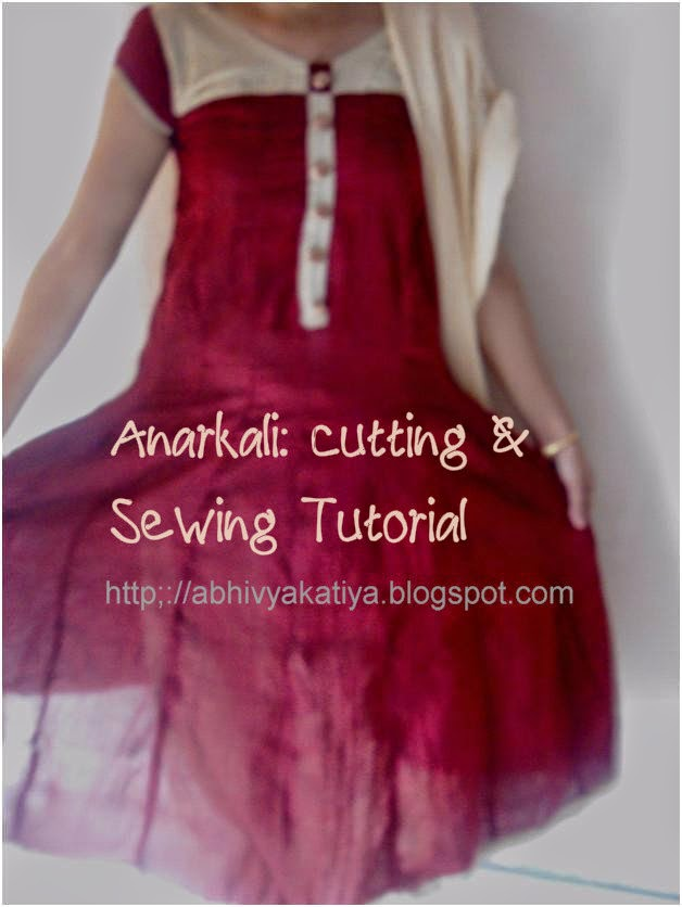 learn to stitch anarkali suit
